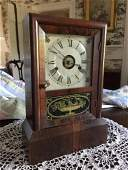Antique SETH THOMAS Mantle Clock with Painted Rose
