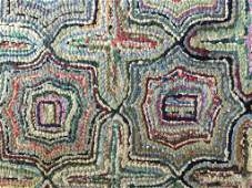 Antique American Hooked Rug c. 19th