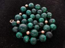 Group Lot 6 1940's-1950's vintage necklaces jade