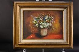 JANE JACKTER Flora still life oil on canvas