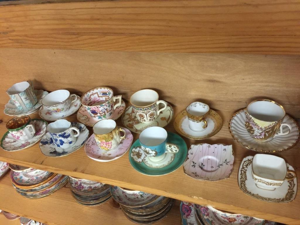 Antique Tea Cups and Saucer Group Lot