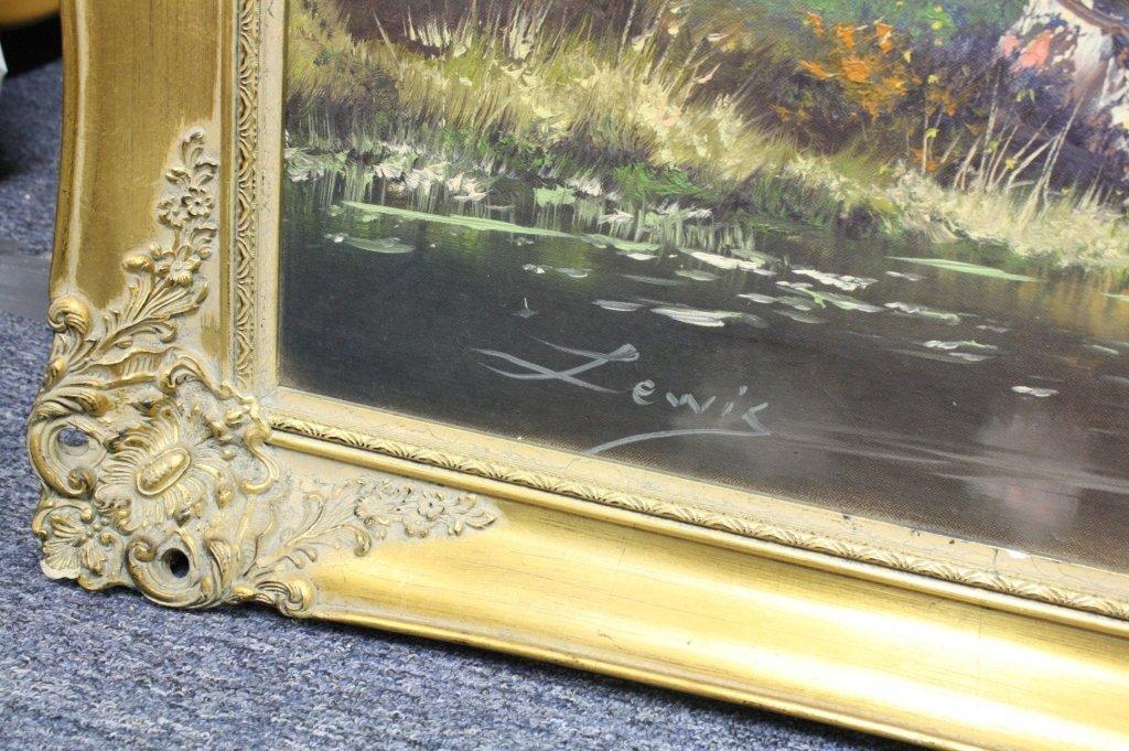 LEWIS Outdoor Stream  Mountain Scene Painting
