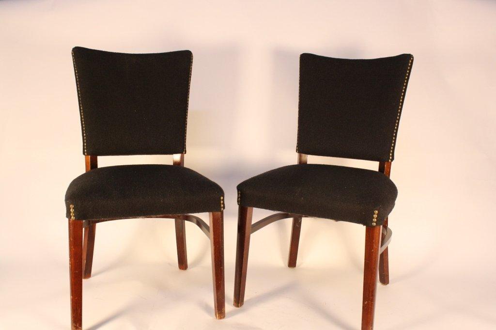 Black Wool Brass Nail Head Chairs