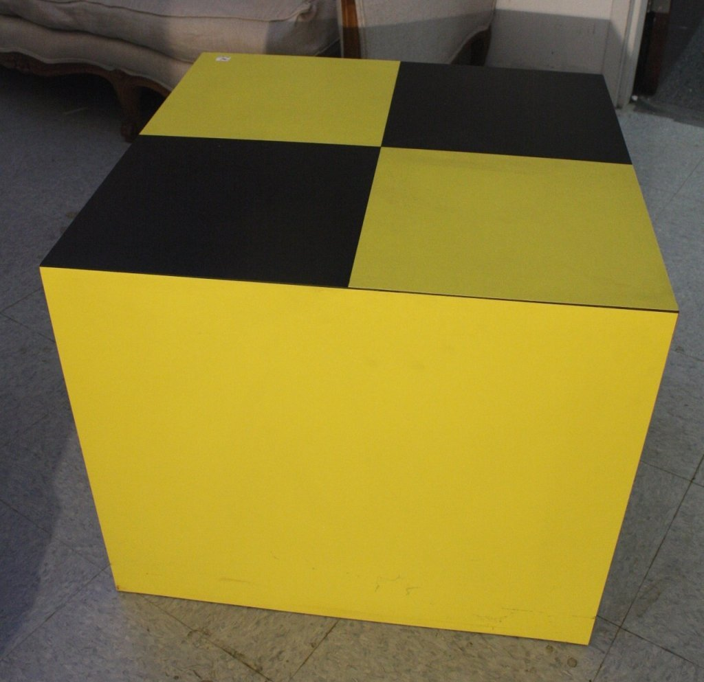 Yellow and Black Coffee or Side Table Block