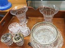 Vintage Cut Crystal and Glass Group Lot