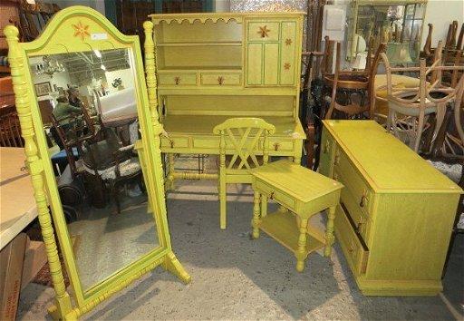 Vintage Girls Complete Yellow Bedroom Set