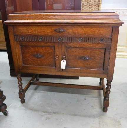 - Antique GILBERT Oak Phonograph Cabinet