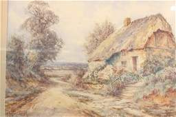 Antique Stannard English Landscape Watercolor