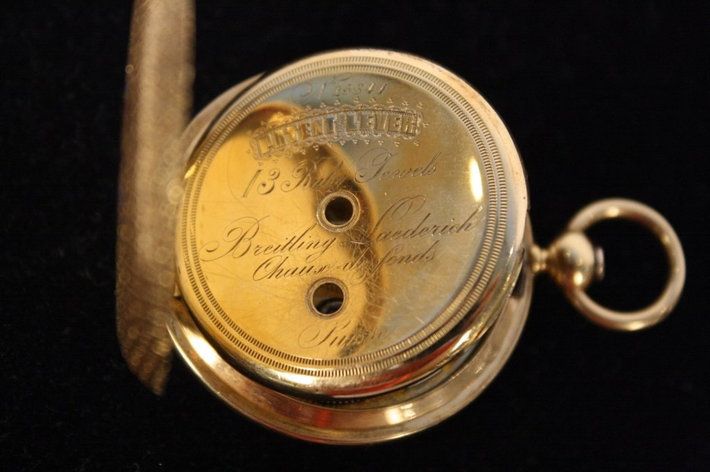 Antique BREITLING LAEDERICH Pocket watch with box