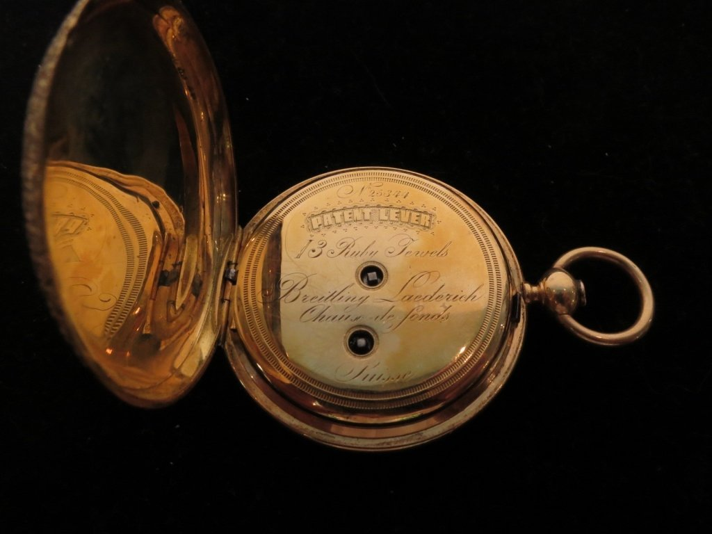 Antique BREITLING LAEDERICH Pocket watch with box - 3