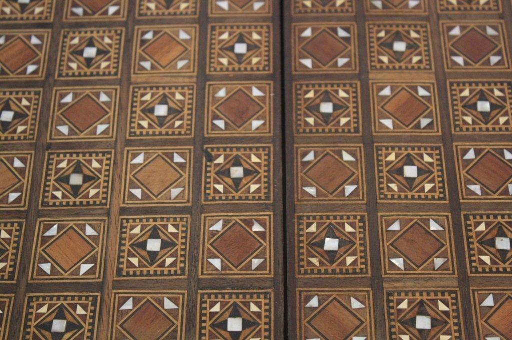 Vintage Turkish Mosaic Backgammon Set - 10