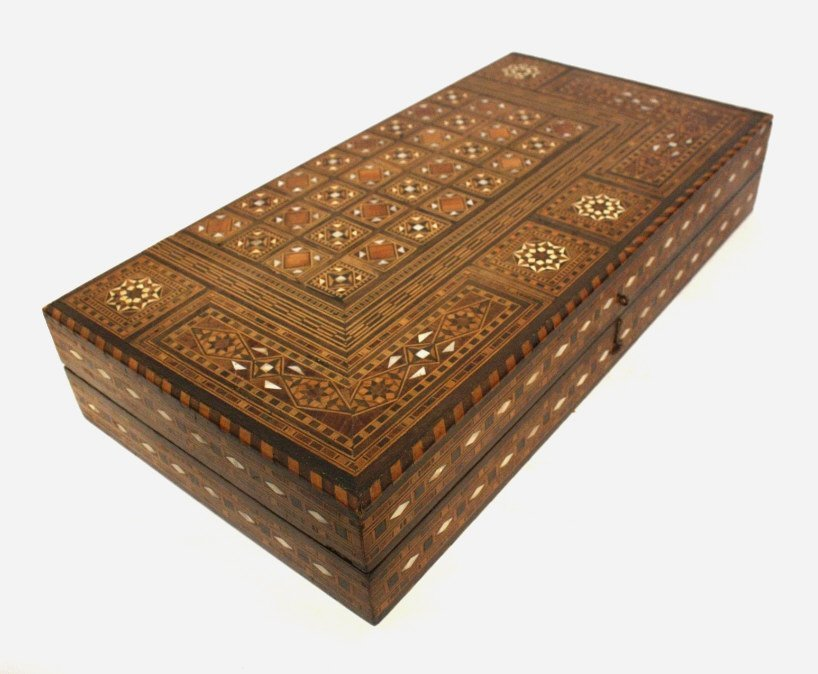 Vintage Turkish Mosaic Backgammon Set - 2