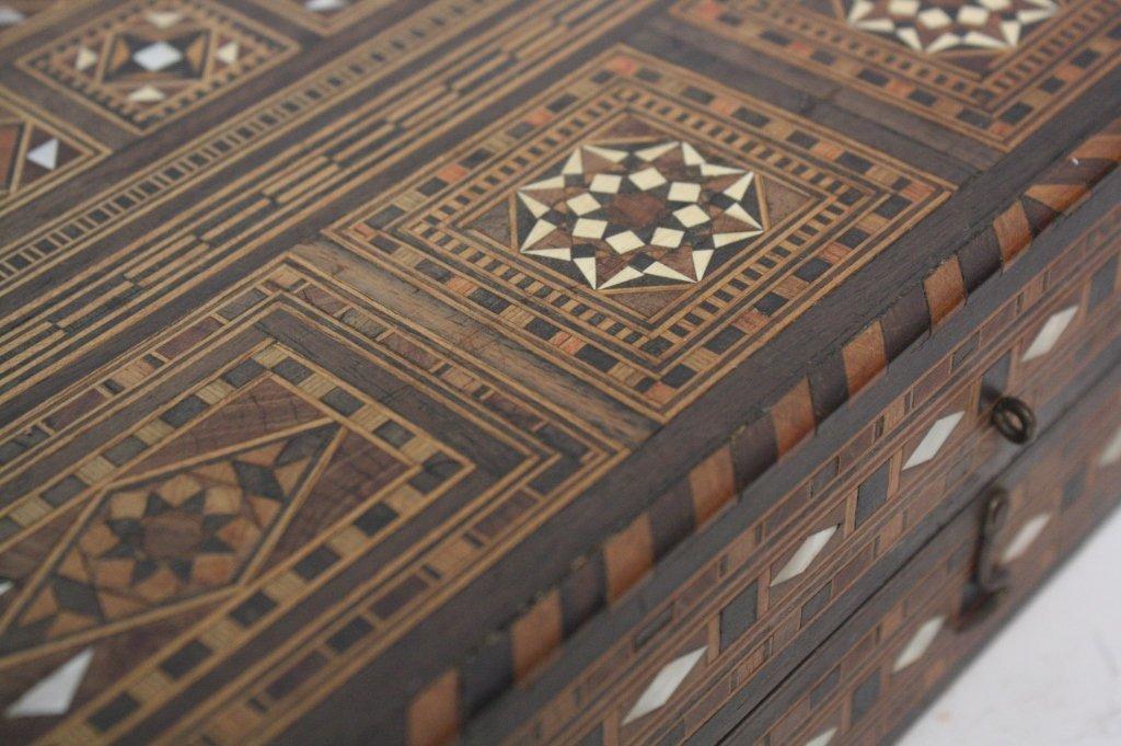 Vintage Turkish Mosaic Backgammon Set - 3