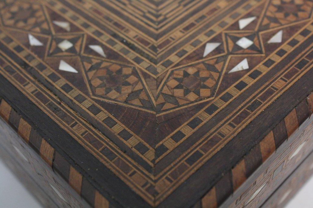 Vintage Turkish Mosaic Backgammon Set - 4