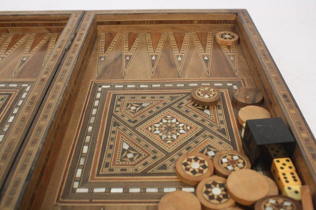Vintage Turkish Mosaic Backgammon Set - 5