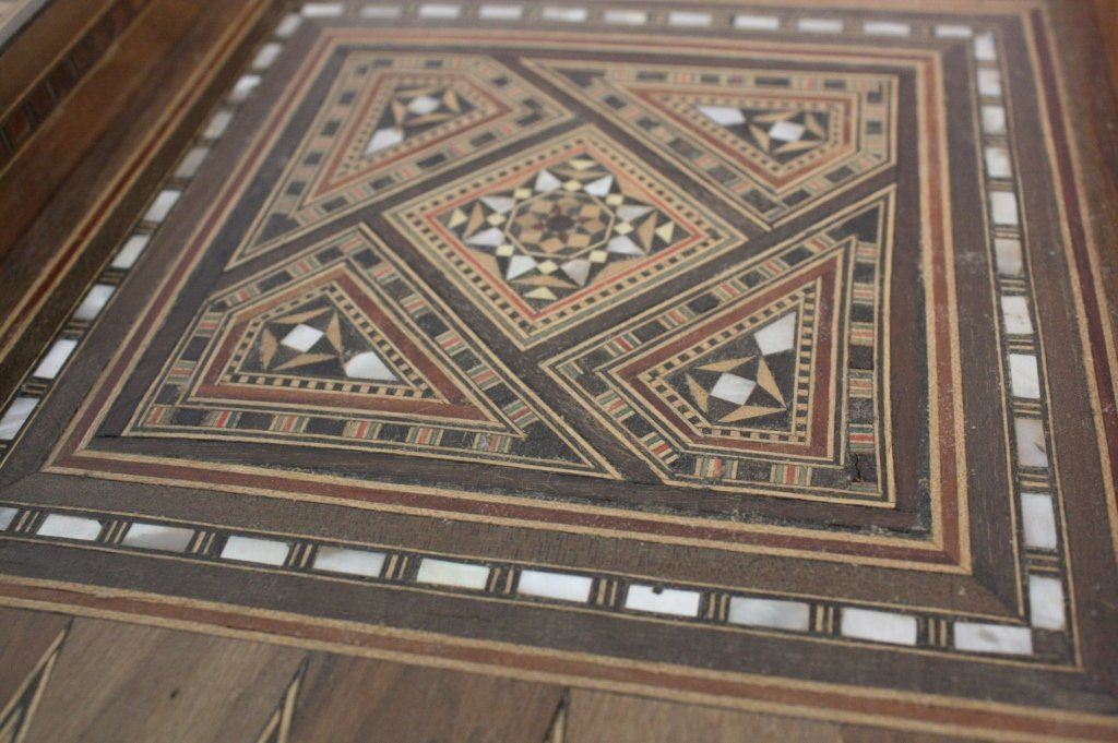 Vintage Turkish Mosaic Backgammon Set - 6
