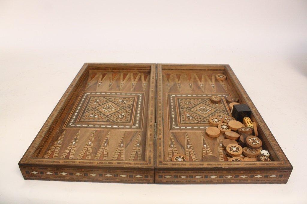 Vintage Turkish Mosaic Backgammon Set - 7