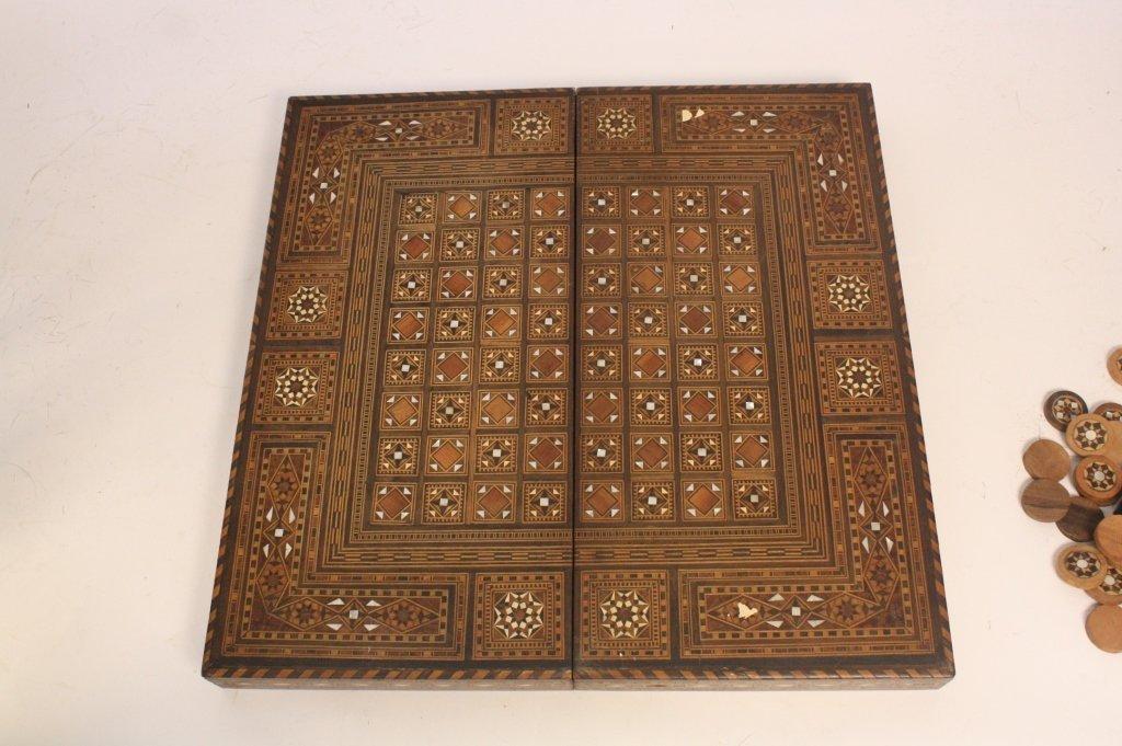 Vintage Turkish Mosaic Backgammon Set - 9