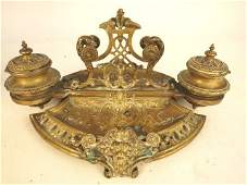 Collection of Vintage Brass Desk Articles