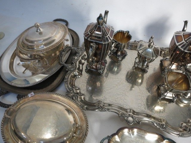 Group Lot of Antique Silver Plate