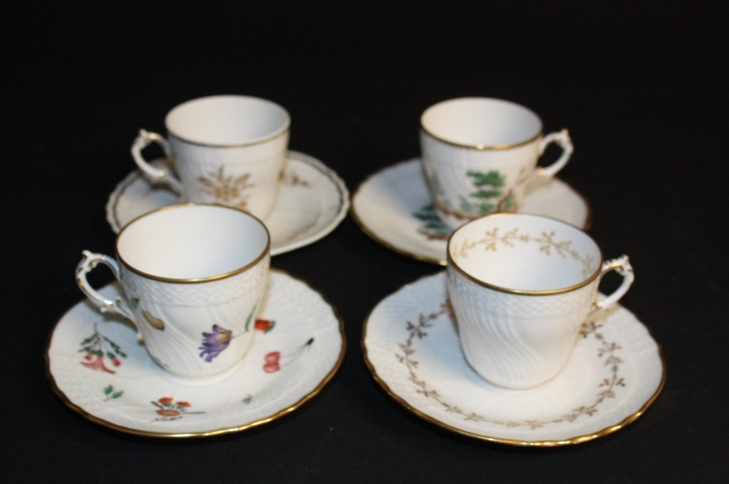 Vintage 8 Piece Lot of Mini China Cups and Plates