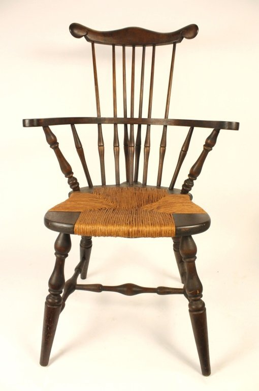 Antique 19 C. Mahogany Windsor Chair
