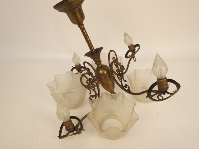 Antique 1900s Converted Chandelier