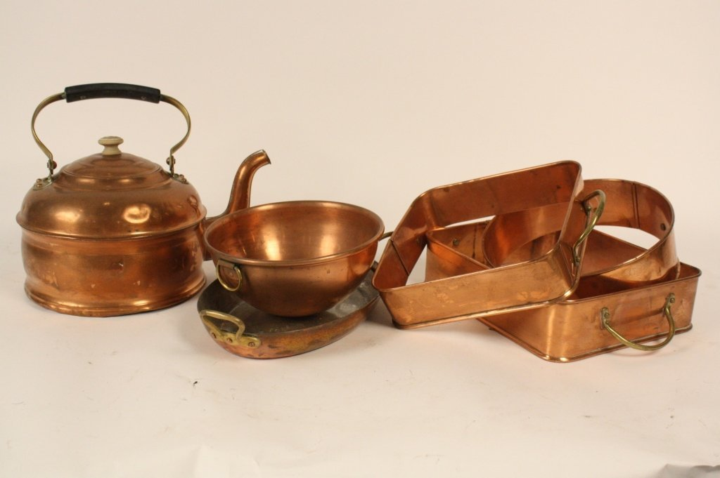 Assorted Group lot of Copper Kitchen Items
