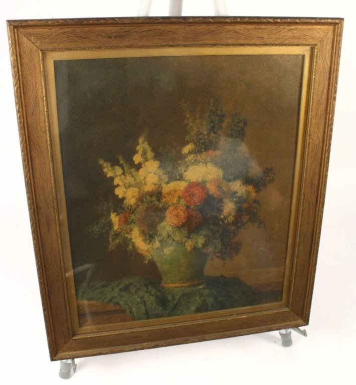 Antique Singed MAX STRECKENBACK Oil Painting