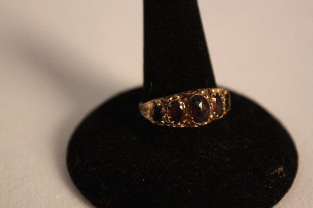 Victorian English .375 Gold Amethyst Ring