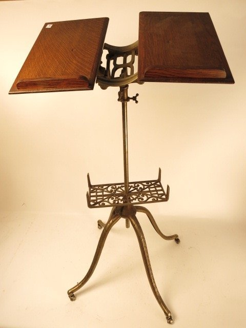 Antique Wrought Iron Book Stand