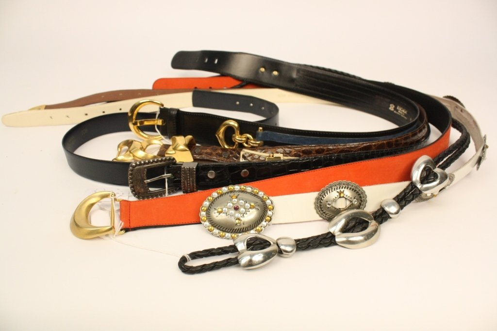 Group Lot Womens Designer Belts