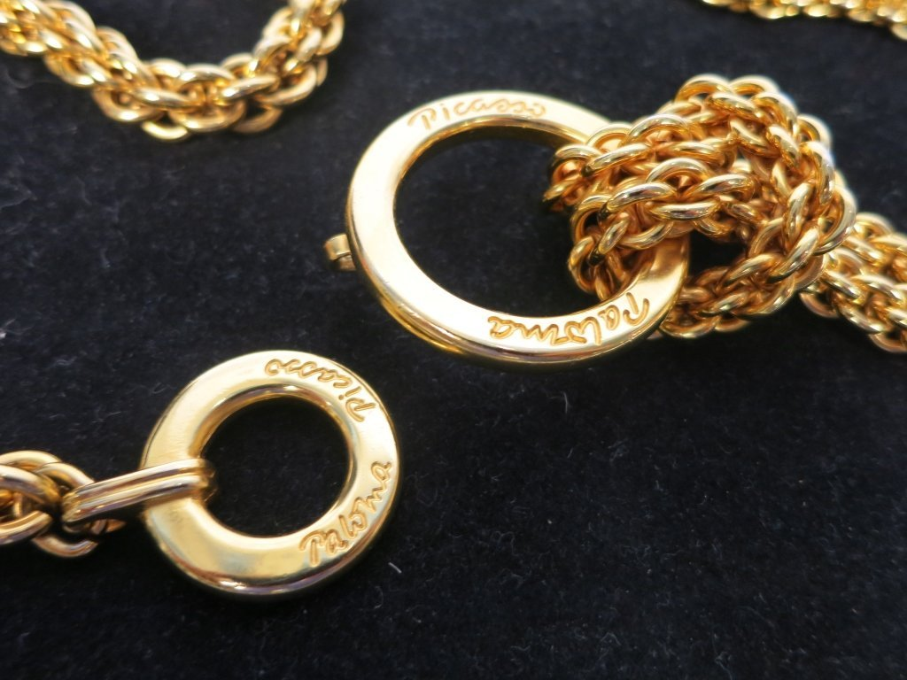 PICASSO P Designer Gold Chain Belt