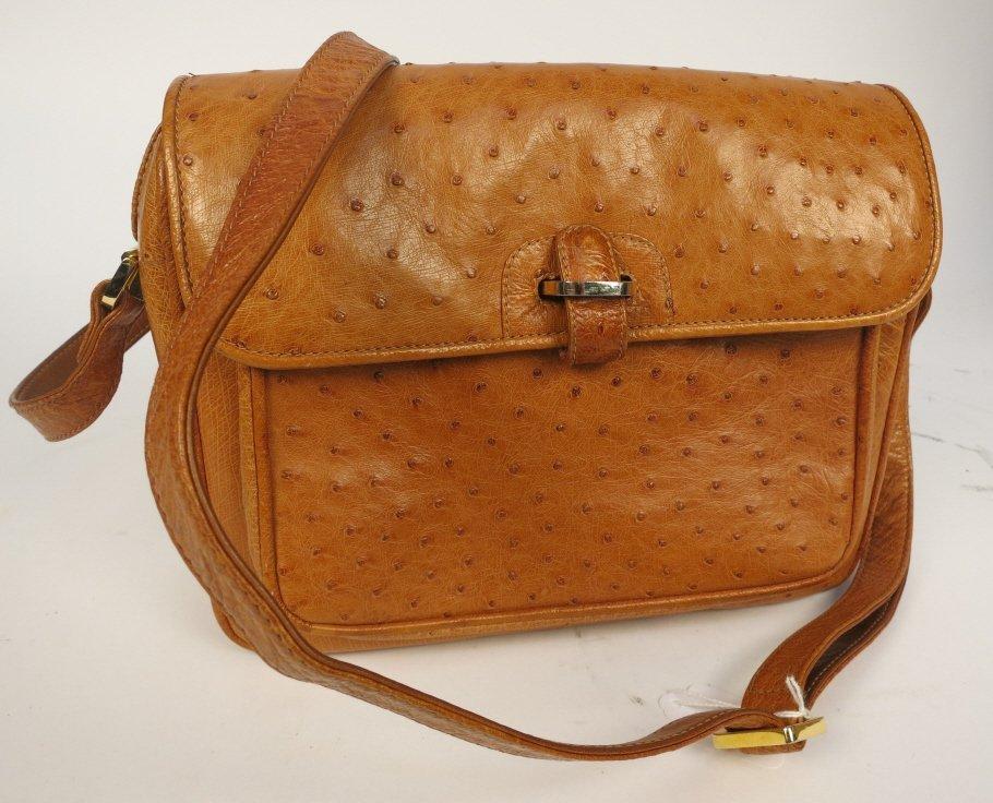 Genuine OSTRICH Leather Hand Bag