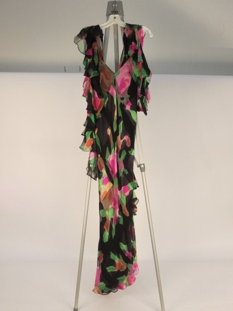 Vintage JUDY HORNBY COUTURE Dress and Scarf