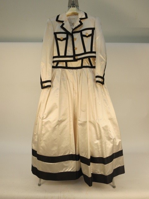 White Vintage ESCADA COUTURE Gown and Jacket