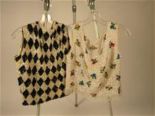 Designer Vintage Lot of Two Beaded Tops