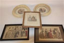 Antique Lot of Victorian Fashion Engravings