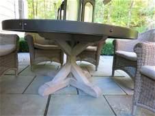 RESTORATION HARDWARE Zink Patio Table