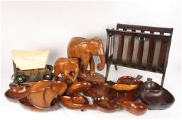 Carved Wood Group pieces