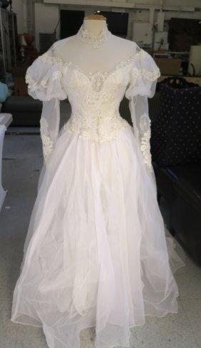 Vintage Bead And Silk Wedding Dress
