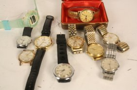 10 Men's Watches Group Lot
