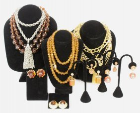 Group Lot Vintage Necklaces Earrings
