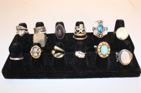 Vintage Antique And Sterling Rings Group 20