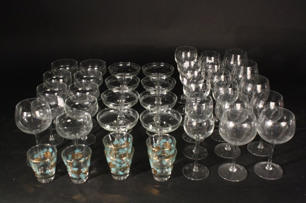 41 Piece Lot of Vintage Drinking Glasses