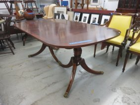 Double Pedestal Mahogany Dinning Table