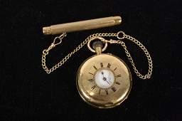 Antique Victorian 18kt Gold Pocket Watch c 19th c