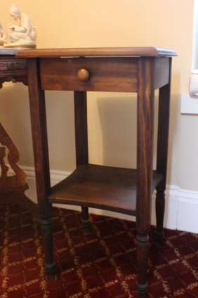 Small Wood Night Table With Drawer
