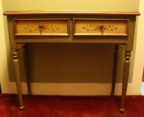 Painted Desk With Turned Legs