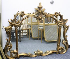 Ml Fortunoff Large Gilded Mirror
